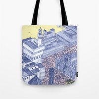 florence Tote Bags featuring Florence by Dylan Davis