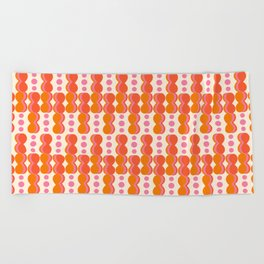 Uende Sixties - Geometric and bold retro shapes Beach Towel