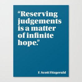 Fitzgerald on Hope Canvas Print
