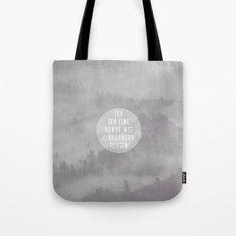 Mit Einhörnern fliegen Tote Bag