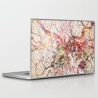 pittsburgh Laptop & iPad Skins featuring Pittsburgh by MapMapMaps.Watercolors