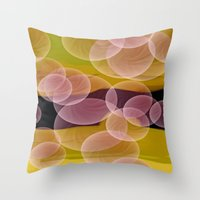 bubbles Throw Pillows featuring Bubbles by lillianhibiscus