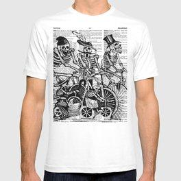 Calavera Cyclists   Black and White T-shirt