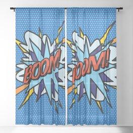 BOOM Comic Book Pop Art Fun Cool Graphic Sheer Curtain