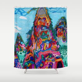 Talking Mountains Shower Curtain