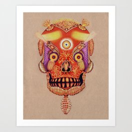 Holy Lumen Skull Art Print