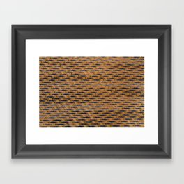 Halftone Framed Art Print