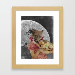 Counting chickens Framed Art Print