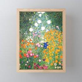 """Gustav Klimt """"Blumengarten (Flower Garden)"""" Framed Mini Art Print"""