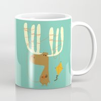 canada Mugs featuring A moose ing by Picomodi