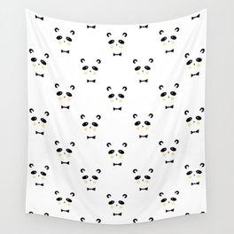 Pandas, Animal, Panda, Cute, Funny, Minimal, Pattern, Modern art Wall Tapestry
