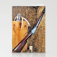 winchester Stationery Cards featuring Winchester Rifle by Captive Images Photography