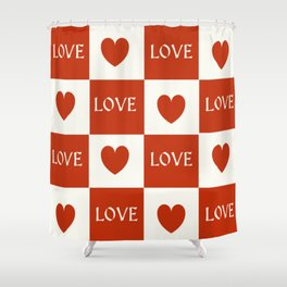 Love & Hearts #buyart #society6 Shower Curtain