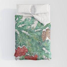 Pine Needles and Berries Comforters