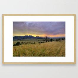 Sunset over the Flatirons Framed Art Print