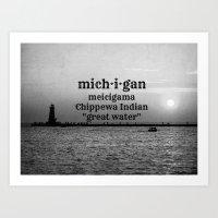 michigan Art Prints featuring Michigan by KimberosePhotography