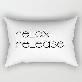 Relax and Release (black) T-Shirt Rectangular Pillow