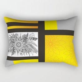 Sunflower Doodle on bright bold background Rectangular Pillow