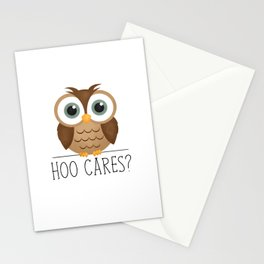 Hoo Cares? Stationery Cards