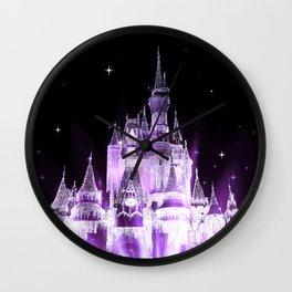 Enchanted Castle Purple Lavender Wall Clock