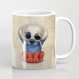 Cute Puppy Dog with flag of Slovenia Coffee Mug