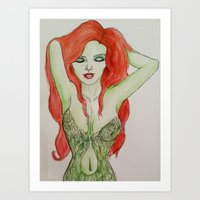 poison ivy Art Prints featuring Poison Ivy by Jade Lenehan