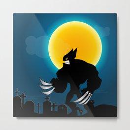 wolferine in moon night Metal Print