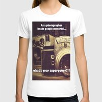 cameras T-shirts featuring Vintage cameras by Fairies and Rock