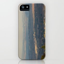 Sunset Italian countryside landscape view iPhone Case