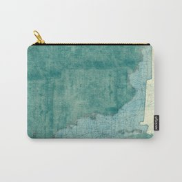 Florida State Map Blue Vintage Carry-All Pouch