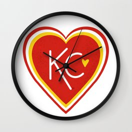 KC Love Red & Yellow Wall Clock