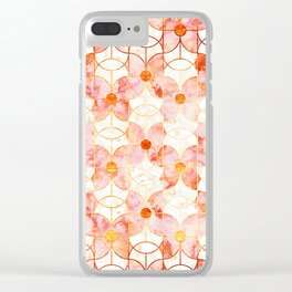 Rose Gold Butterfly Deco Clear iPhone Case