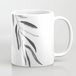 Eucalyptus Branches II Black And White Coffee Mug