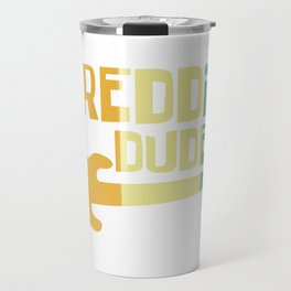 Shredding Dude Rock Metal Guitar Air Gift Travel Mug