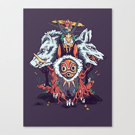 The Wolf Princess (Purple) Canvas Print