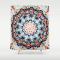 kaleidoscope Shower Curtains featuring kaleidoscope  by North 10 Creations