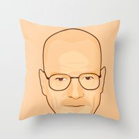 walter white Throw Pillows featuring Walter White by sknny
