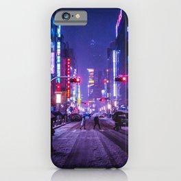 Shibuyascapes Snowy Night iPhone Case