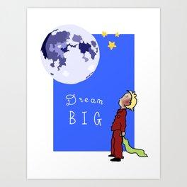 Dream Big Moon and Boy Art Print