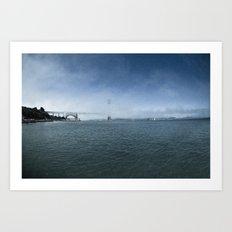 Golden Gate Bridge + Fog Art Print