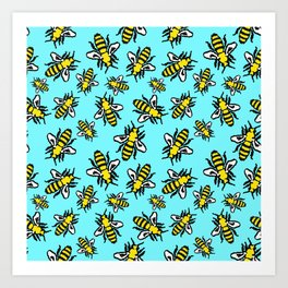 Honey Bee Swarm Art Print