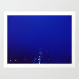 BLUE FOG 528 Art Print