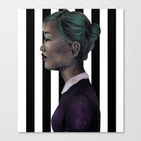 karen hallion Canvas Prints featuring Karen by NuranSeren