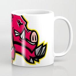 Wild Boar American Football Mascot Coffee Mug