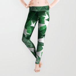 Tropical Palm Print Leggings