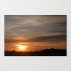 Sunset, 8th August, 2014 Canvas Print