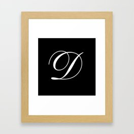 Elegant And Stylish Black And White Monogram D Framed Art Print