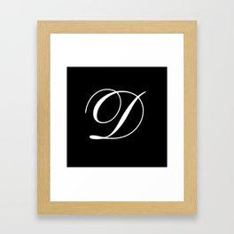 Elegant And Stylish Black And White Monogram D Framed Art Print