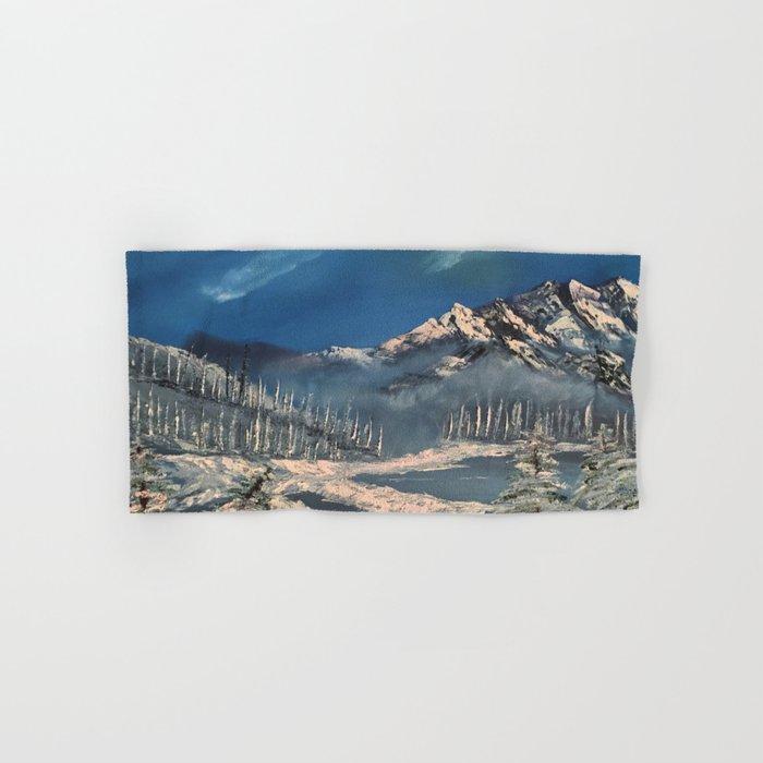 Ice Fields - winter day Hand & Bath Towel
