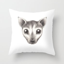 Spectacled Flying Fox Throw Pillow